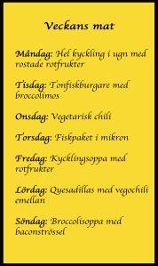 veckans mat