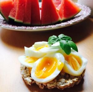 Ägg och vattenmelon är favoriter hos mig